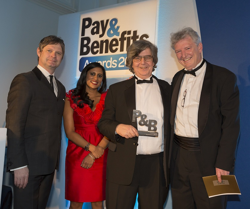 Cintra CEO Carsten Staehr on stage at the Pay & Benefits Awards 2013