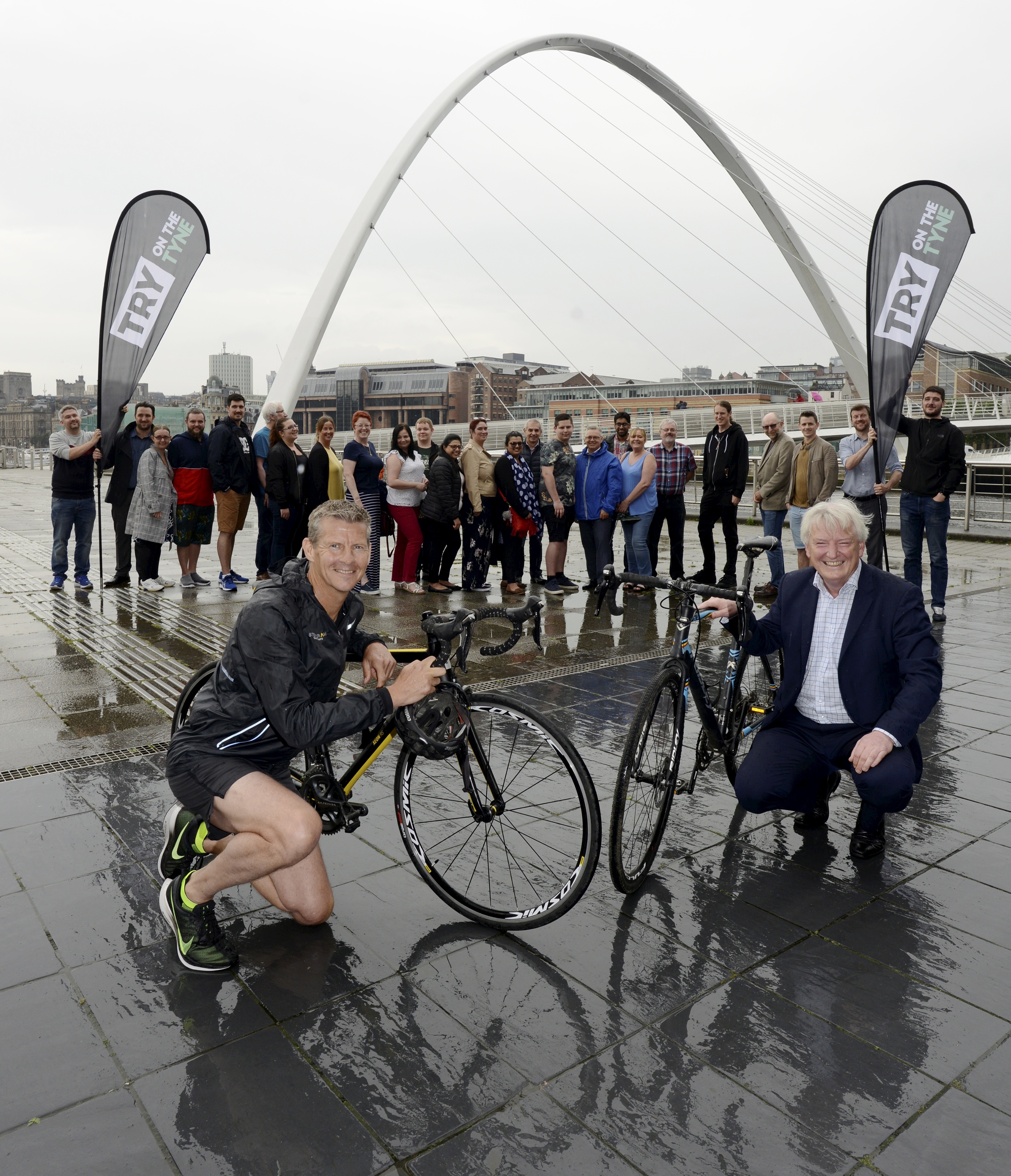 Try on the Tyne event organiser Steve Cram pictured with Carsten Staehr, CEO of Cintra and Cintra staff who have signed up to take part in the region's newest multi-sport event, TRY on the Tyne. Cintra will be headline sponsor of the inaugural event on Saturday 10 August. Organised by Steve Cram's company Events of the North, in partnership with Newcastle City Council and Gateshead Council, TRY on the Tyne will include duathlon (run-bike-run) races, along with 5K and 10K runs and junior races, with all events enjoying a mass start at Baltic Square in Gateshead and finishing on the Newcastle Quayside.