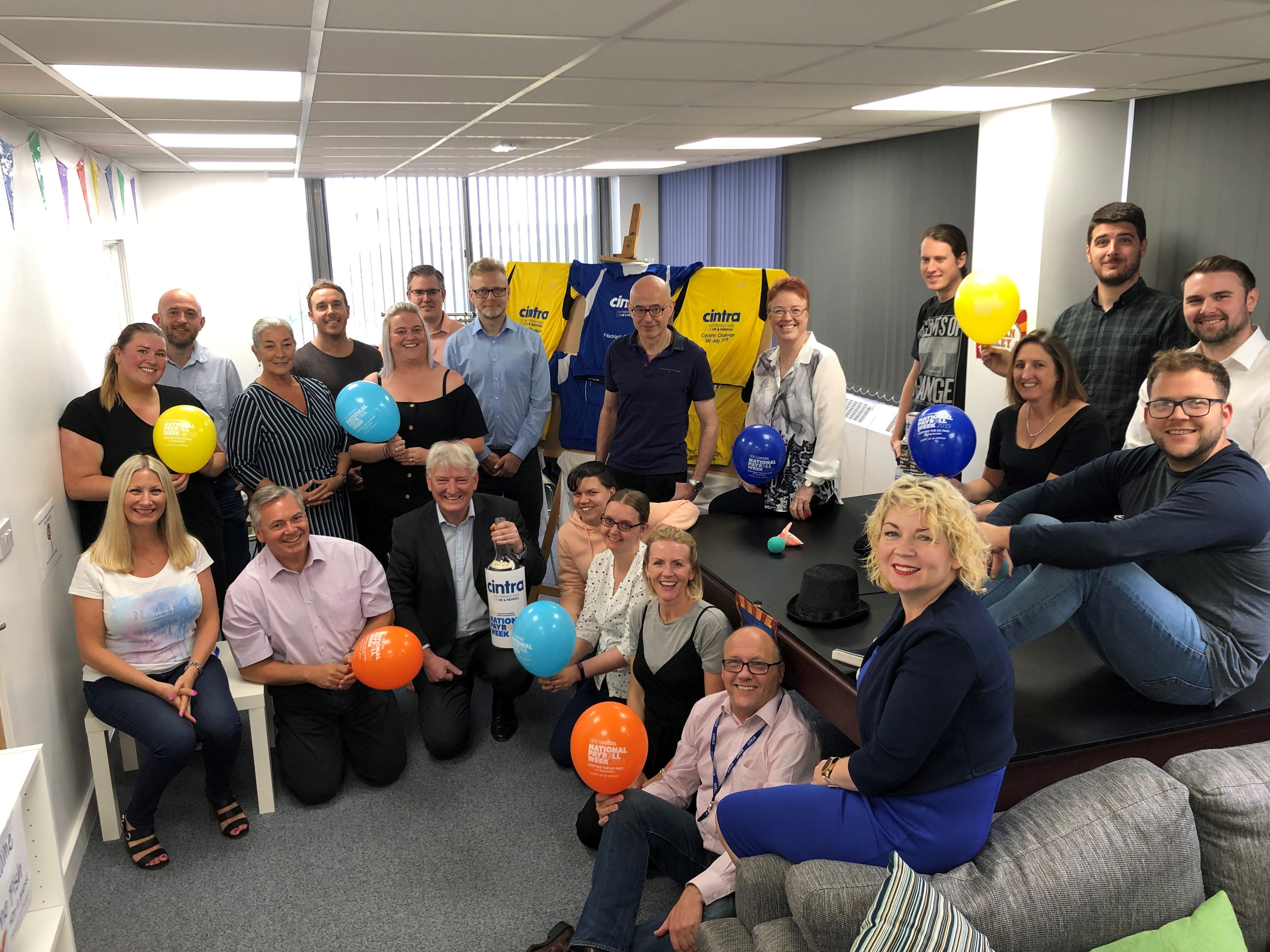 Cintra team celebrating National Payroll Week