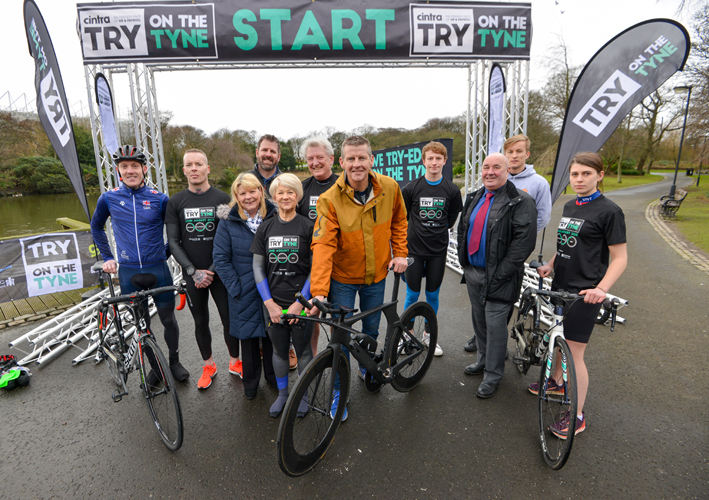 Dated: 19/02/2020 Triathlon will come to Tyneside in August, as part of a two-day festival of multi-sport events. Following its successful debut last year, Cintra TRY on the Tyne will return to Newcastle and Gateshead in 2020 with 5k and 10k runs, duathlons, a family athletics event, and for the first time, the addition of 'sprint' and 'super sprint' triathlons in the heart of the city. Sponsored by North East firm Cintra HR and Payroll Services, TRY on the Tyne will be held on 22 and 23 August and is being organised by Steve Cram's company Events of the North, in partnership with Newcastle City Council and Gateshead Council. Pictured at the launch event alongside Steve Cram are Carsten Staehr from Cintra (6th left), James Close from Urban Green Newcastle (4th Left), Cllr Ged Bell from Newcastle City Council (3rd right), Cllr Angela Douglas from Gateshead Council (3rd left) and members of Newcastle University Triathlon Club.